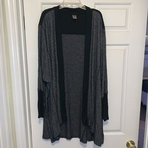 Lane Bryant black & grey oversized cardigan